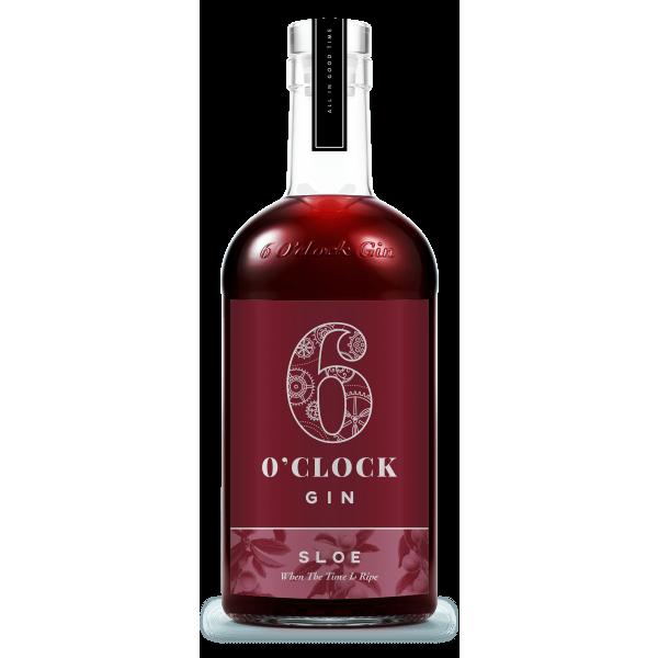 6 O'clock Gin - Sloe Gin bottle