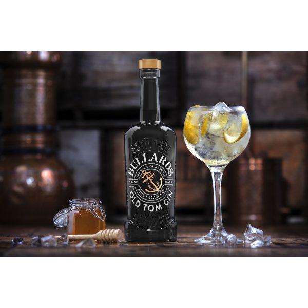 Bullards - Old Tom Gin - Bottle and Glass