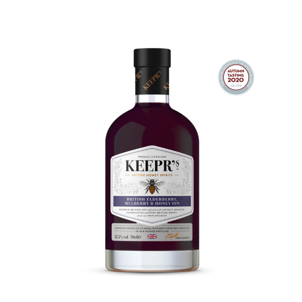 Keepr's British Elderberry Mulberry and Honey Gin Bottle