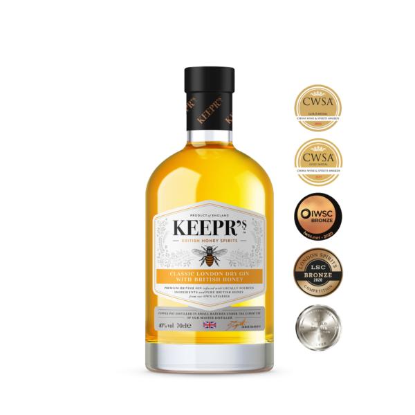 Keepr's Classic London Dry with British Honey - bottle