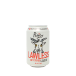 Lawless unfiltered lager can