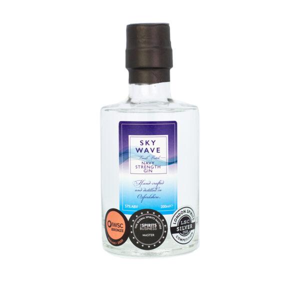 Sky Wave Navy Strength Gin 200ml bottle