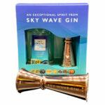 Sky Wave London Gin 200ml and Jigger Gift Box