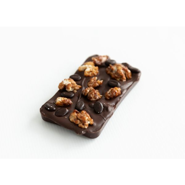 Dark Chocolate Bar with a Coffee Fondant Filling