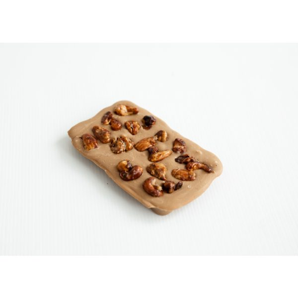 Gold Chocolate Praline & sea salt and caramelised nuts