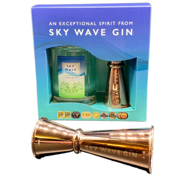 Sky Wave Liberation Gin 200ml and Jigger Gift Box