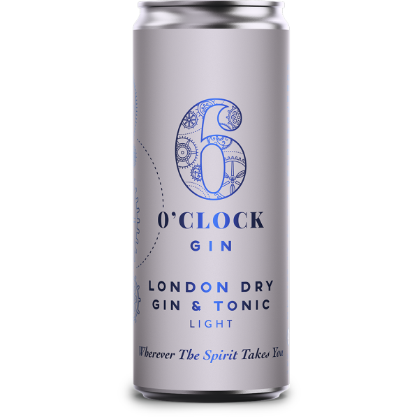 6 O clock London Dry Gin and Tonic Light RTD