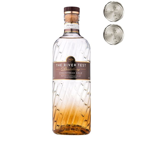 The River Test Distillery Chalkstream Gold Gin 5cl