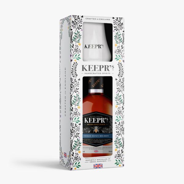 Keeprs Smoked Honey Bourbon 70cl Tasting Gift Box